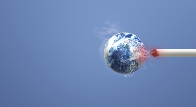 Le monde de rendu 3d sans fond d'image du jour du tabac.