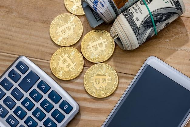 Monnaie - dollar vs bitcoin sur 24