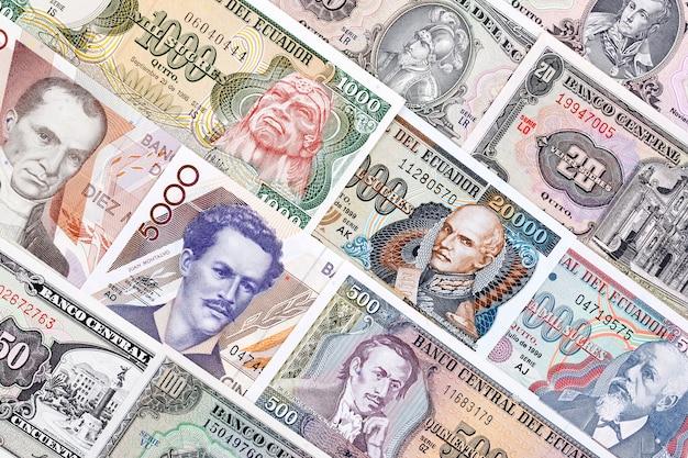 Monnaie de l'equateur, un fond