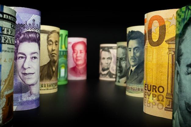 Monnaie étrangère avec change de monnaie international