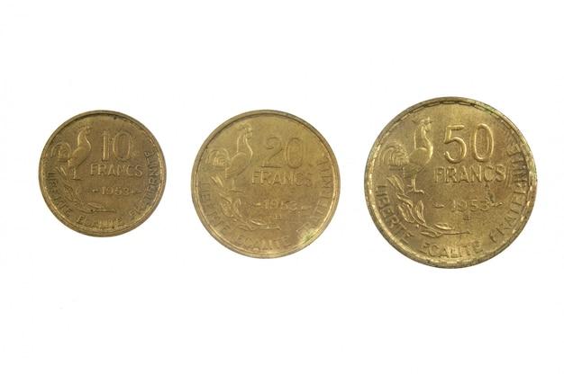Monnaie française du xxe siècle à 10, 30 et 50 francs, 1953
