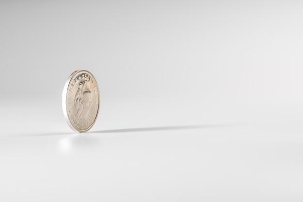 Monnaie, rotation, blanc, fond