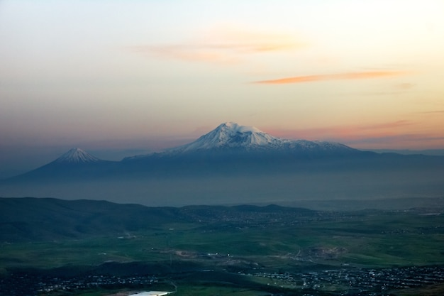 Mont ararat. belle vue d'arménie