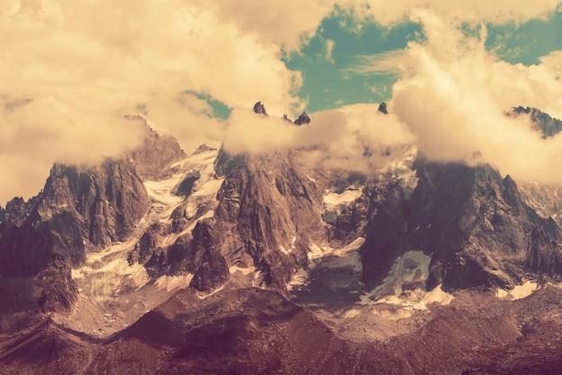 Mont blanc massif scenery