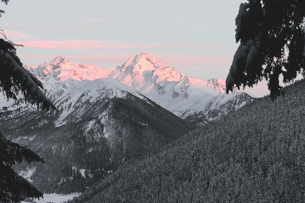 Montagne au sommet enneigé