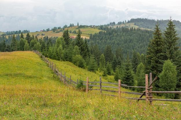 Montagne collines pure nature paysage rural