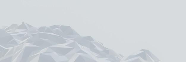 Montagne de glace à faible polygone 3d.