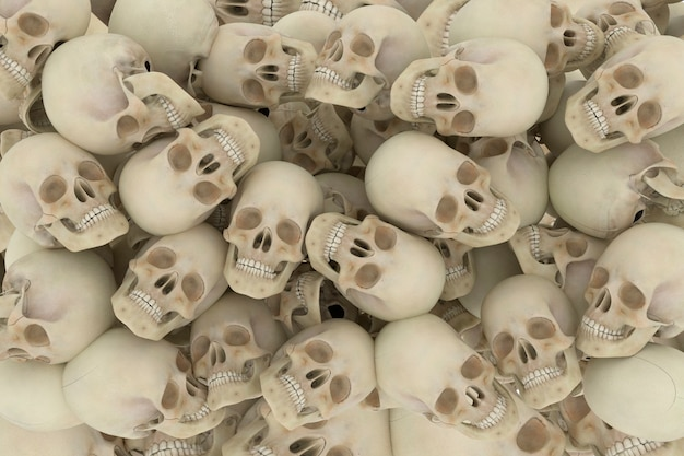 Montagne morte de crânes
