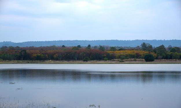 Montagne et rivière dans la nature
