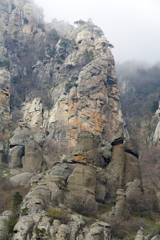 Montagne rocheuse (mont demerdzhi, crimée, ukraine)