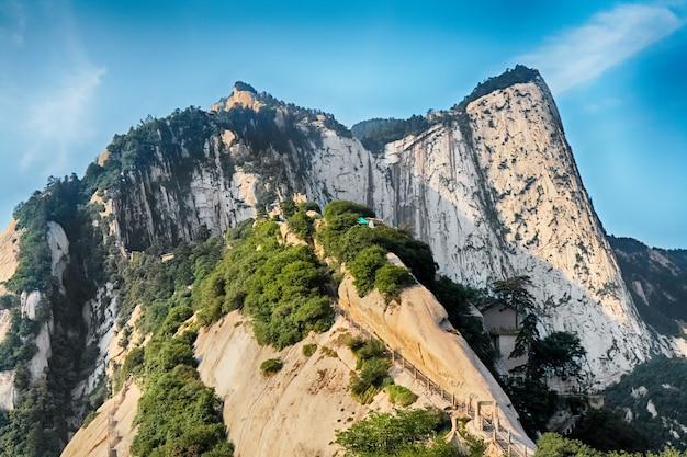 Montagne sacrée huashan, xi'an, chine