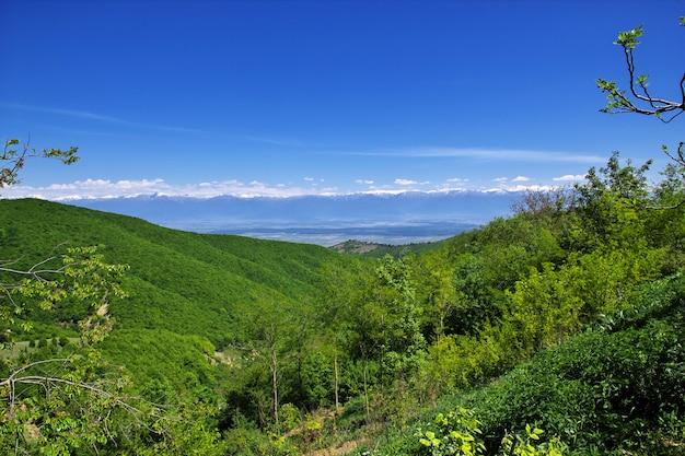 La montagne et la vallée, géorgie