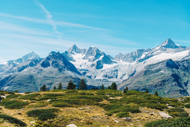 Montagnes des alpes à zermatt