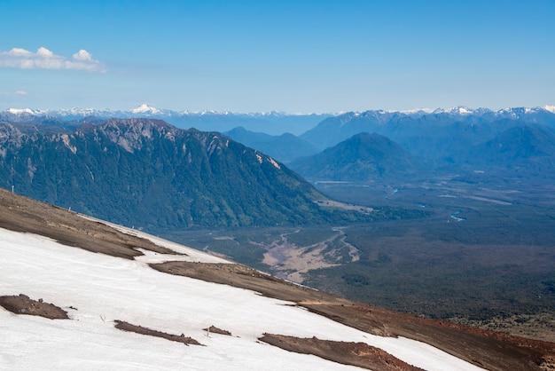 Montagnes des andes vu du volcan osorno province de puerto varas llanquihue los lagos chili