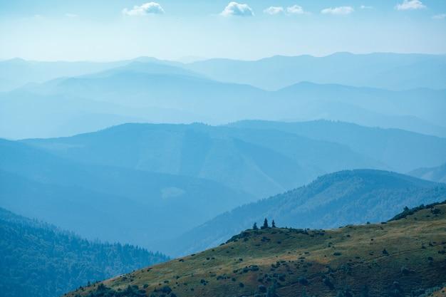 Montagnes bleues en ukraine carpates