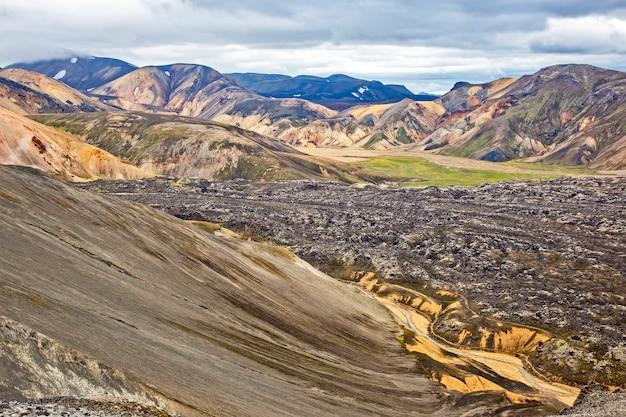 Montagnes colorées du paysage volcanique de landmannalaugar