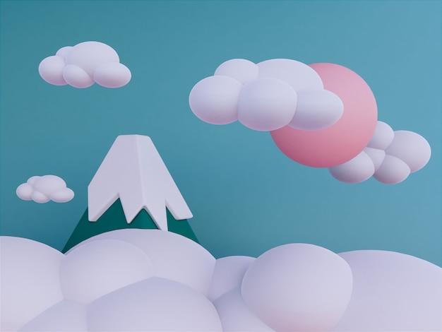 Montagnes avec fond de skyscape