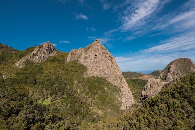 Montagnes à la gomera, îles canaries, espagne.
