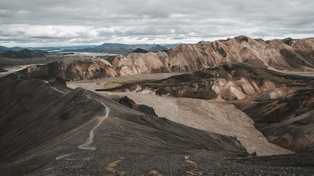 Montagnes landmannalaugar islande