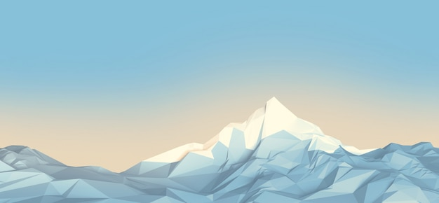Montagnes low-poly