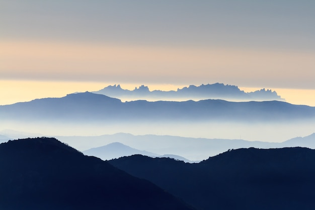 Montagnes de montserrat