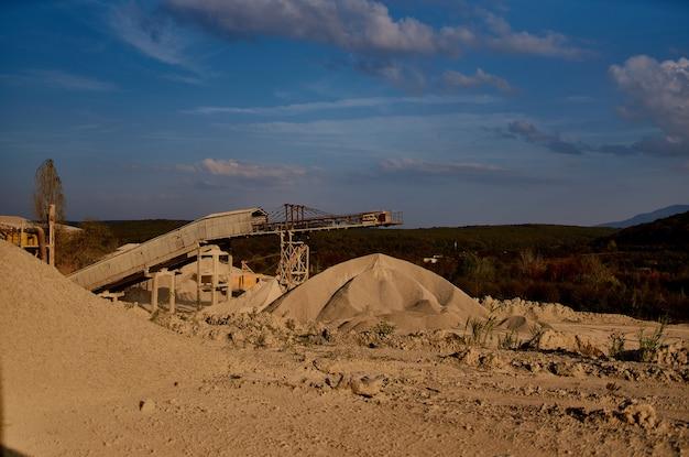 Montagnes de sable géologie des matériaux de construction