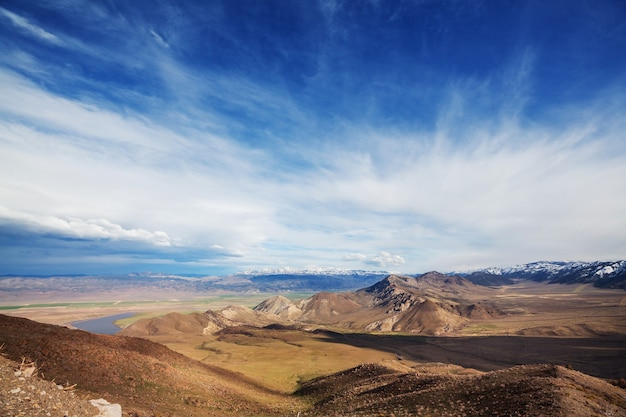 Montagnes de la sierra nevada en californie, usa
