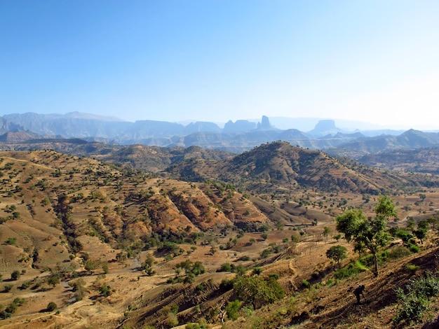 Montagnes de simeon en ethiopie, afrique