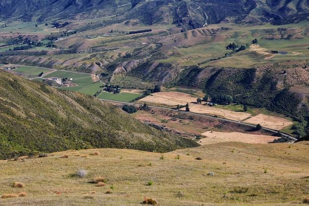 Les montagnes et la vallée de l'île du sud, nouvelle zélande