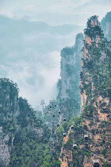 Montagnes de zhangjiajie, chine