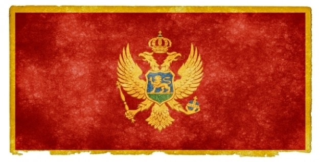 Montenegro flag grunge