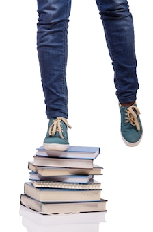 Monter les marches du savoir - concept d'éducation