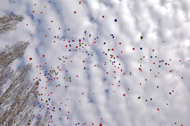 Montgolfière dans le ciel