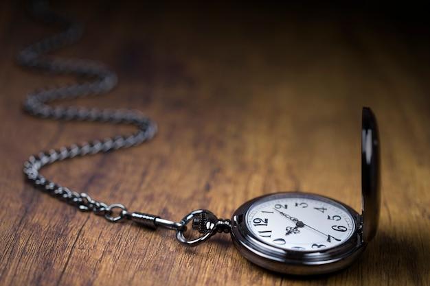 Montre en chaîne et le temps qui passe