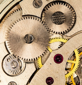 Montre mécanique vintage d'horlogerie haute résolution et détail