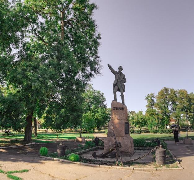 Monument à alexandre suvorov dans la ville d'ochakov