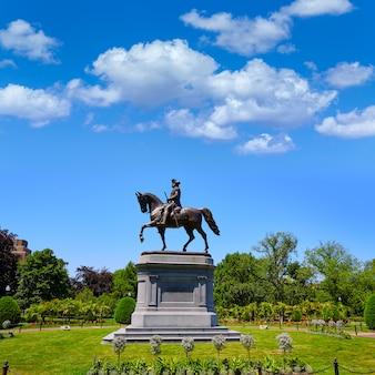 Monument boston common george washington