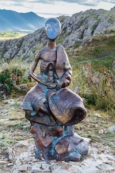 Monument boy avec un gopher
