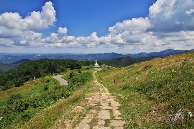 Le monument sur le col de shipka, bulgarie