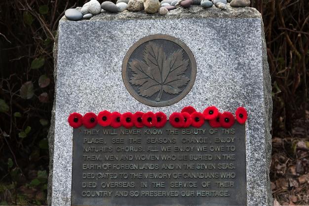 Monument commémoratif à la réserve de parc national pacific rim, tofino, île de vancouver, colombie-britannique, canada