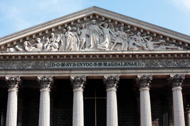 Monument de l'église de la madeleine à paris, vue de face