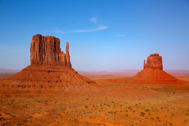 Monument valley mittens ouest et est butte utah
