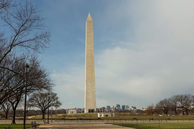 Monument de washington dans l'après-midi à washington dc, usa.