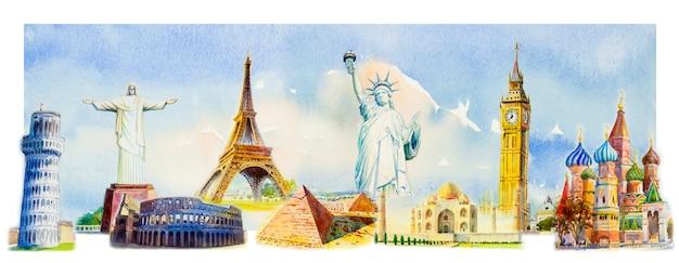 Monuments célèbres du monde