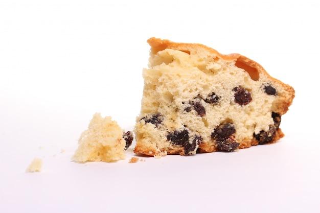 Morceau de gâteau frais