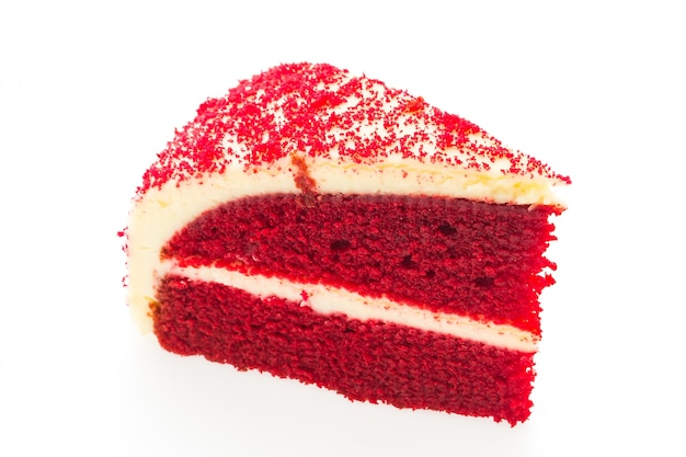 Morceau de gâteau de velours rouge