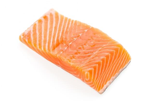 Morceau de saumon frais
