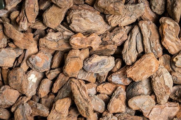 Morceaux de roche en bois pour texute et fond