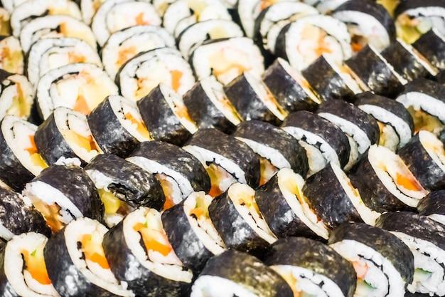 Morceaux de sushi