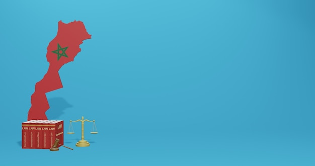 Moroccool aw pour infographie, contenu de médias sociaux dans le rendu 3d